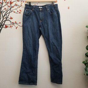 Carhartt Curvy Fit Blue Denim Jeans 12 x 30